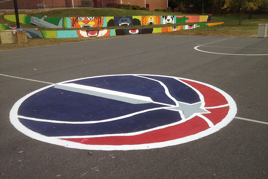To Paint A Tennis Court Basketball Sport You