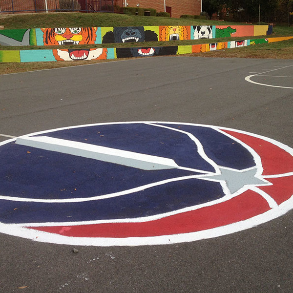 How to paint a basketball court