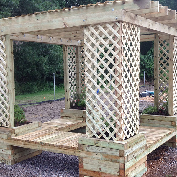 How To Build a Planter Bench Shade Structure
