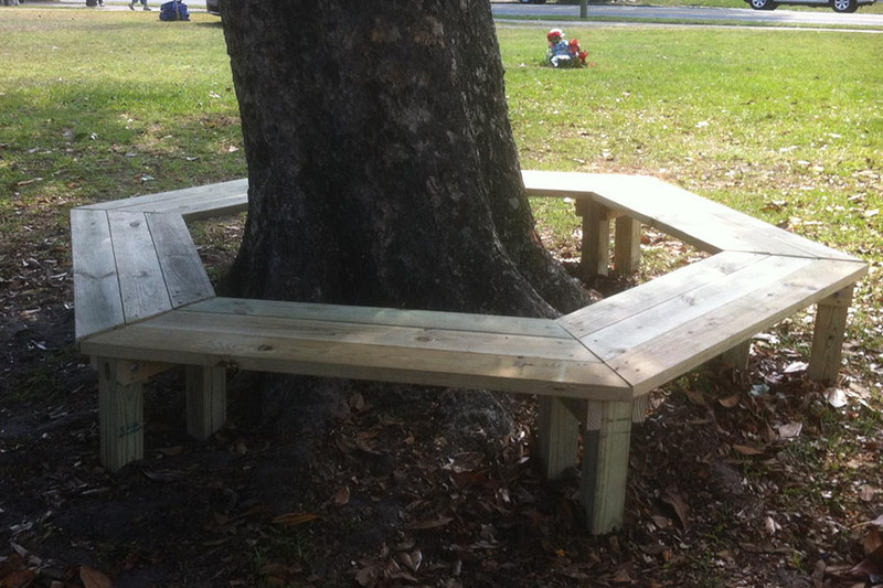 Surprising How To Build A Tree Bench Diy Play Projects Kaboom Ibusinesslaw Wood Chair Design Ideas Ibusinesslaworg