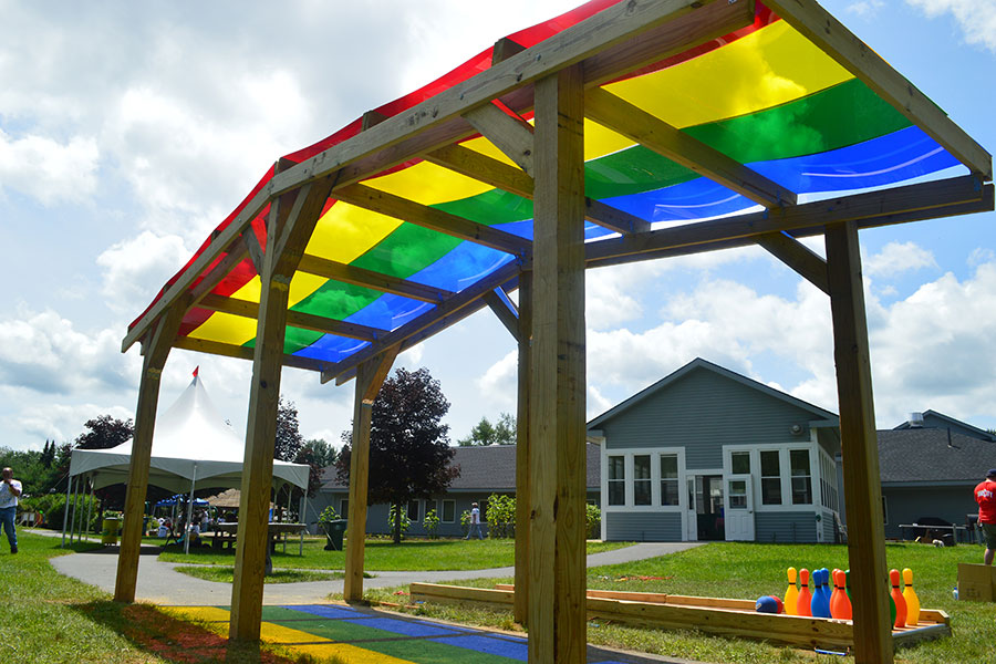 Rainbow Shade Structure 1