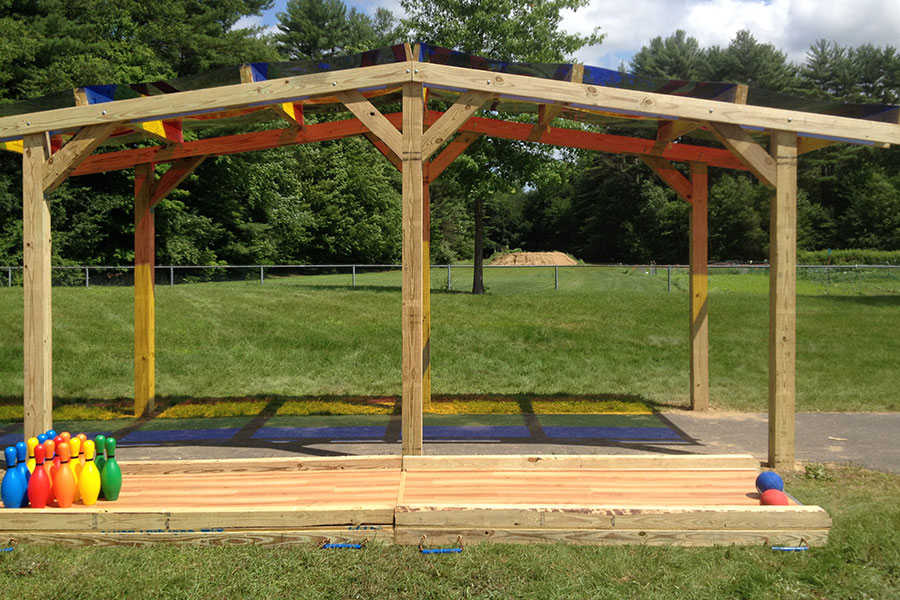 Rainbow Shade Structure 3