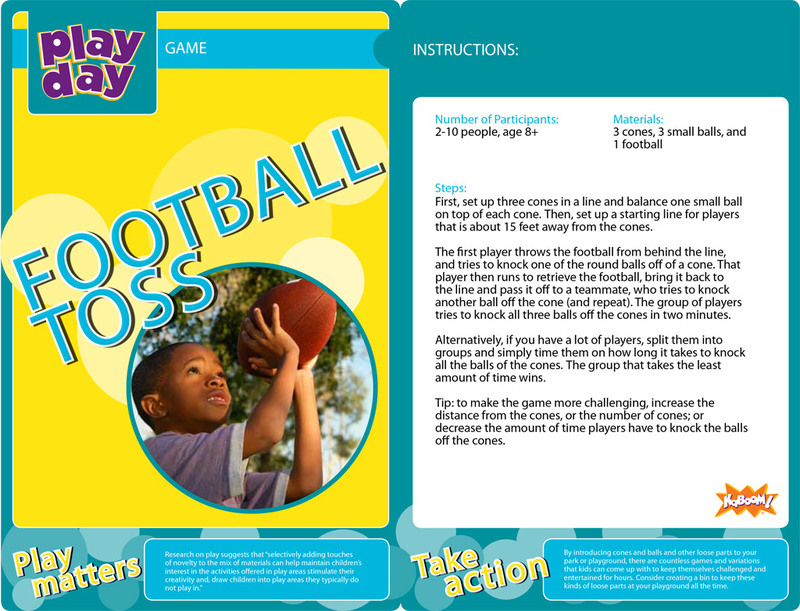 Football Toss Information Card