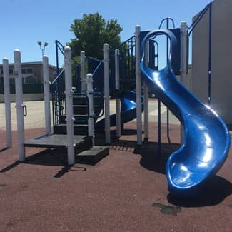 Franklin Elementary's playground in 2019